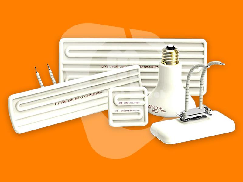 ฮีตเตอร์อินฟราเรดแบบแผ่นเซรามิค (Infrared Ceramic Heater)