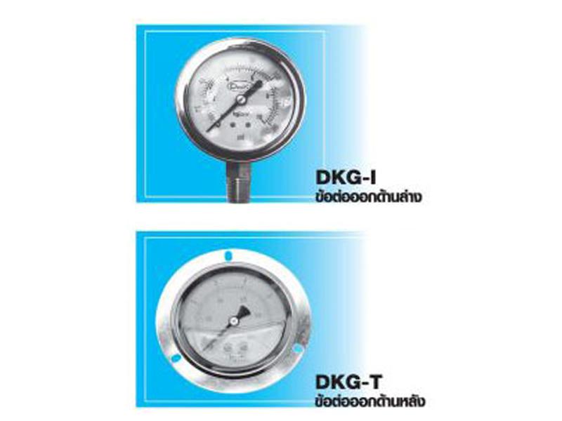 เกจวัดความดันแบบมีน้ำมัน Pressure Gauge (DENKI , FTB)